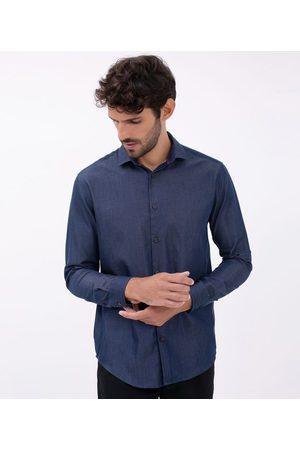 Preston Field Camisa Manga Longa Comfort | | marinho | 06
