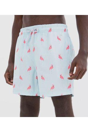 Ripping Bermuda Estampa Ícones Flamingos com Amarração | | | PP