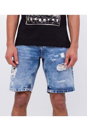 Blue Steel Bermuda Slim em Jeans com Puídos | | | 36