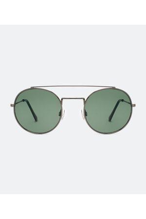 Cubus Óculo de Sol Masculino Redondo em Metal | | | U