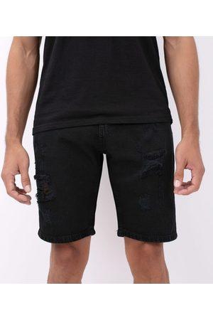 Blue Steel Bermuda Slim com Puídos em Jeans | | | 40