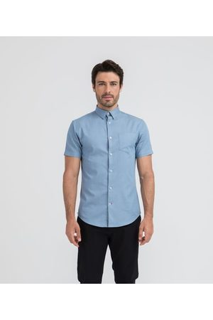 Preston Field Camisa Social Manga Curta Slim Lisa | | claro | 05