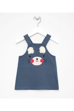 Teddy Boom (0 a 18 meses) Vestido Infantil Salopete Estampa de Bichinho - Tam 0 a 18 meses       0-3