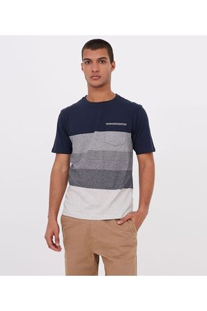 Ripping Camiseta Bloco com Listras e Bolso | | | M