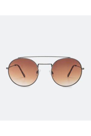 Cubus Óculos de Sol Feminino Redondo com Ponte Dupla | | | U