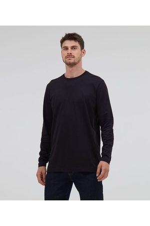 Marfinno Camiseta Comfort em Algodão Peruano Manga Longa Básica | | | M