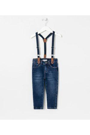Póim (1 a 5 anos) Calça Infantil em Jeans com Suspensório - Tam 1 a 5 anos | | | 05