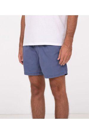 Blue Steel Short em Sarja com Cós Elástico       EG I