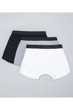 Accessories Men Kit com 3 Cuecas Boxers Básicas | | Sortido | P