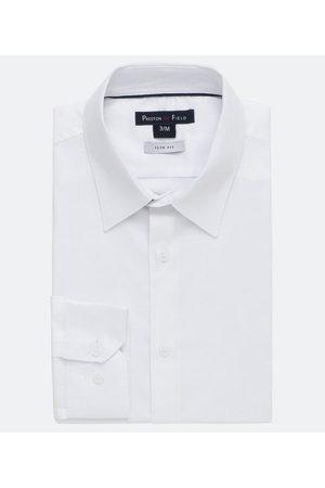 Preston Field Camisa Slim Manga Longa Lisa Maquinetada | | | 02