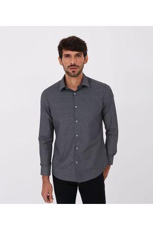 Preston Field Homem Camisa Manga Comprida - Camisa Slim Manga Longa Xadrez Grid | | | 06