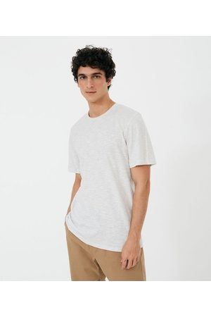 Ripping Homem Manga Curta - Camiseta Manga Curta Listrada     Off white   M