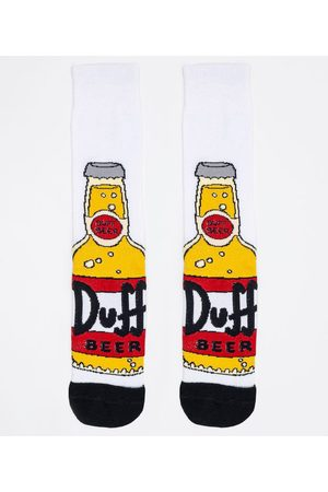The Simpsons Meia Algodão Cano Longo Estampa Duff | | | U