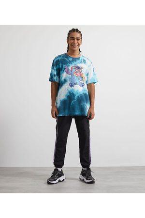 Disney Homem Manga Curta - Camiseta Manga Curta Estampa Stitch Tie Dye | | | P