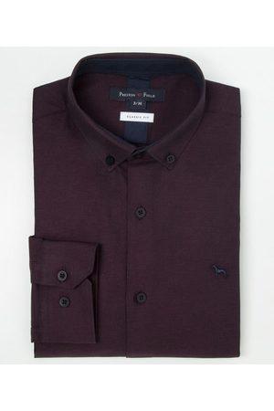 Preston Field Camisa Manga Longa Social Classic Fit | | Bordo | 04