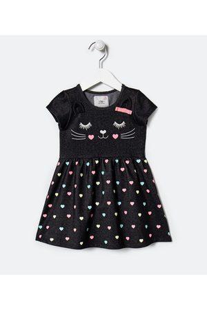 Póim (1 a 5 anos) Criança Vestido Estampado - Vestido Infantil Estampa Bichinho com Saia Poá Coração - Tam 1 a 5 anos | | | 03