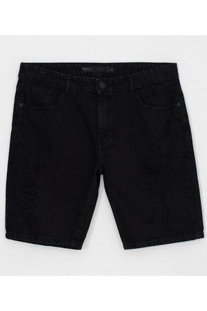 Blue Steel Bermuda Slim com Puídos em Jeans | | | 38