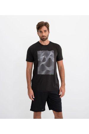 Get Over Camiseta Esportiva Estampa Ondular | | | M