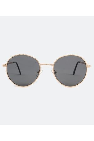 Cubus Mulher Óculos de Sol - Óculos de Sol Feminino Redondo em Metal | | | U