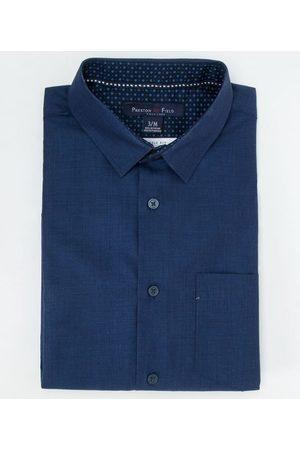 Preston Field Camisa Manga Curta Social em Maquinetado | | | 06