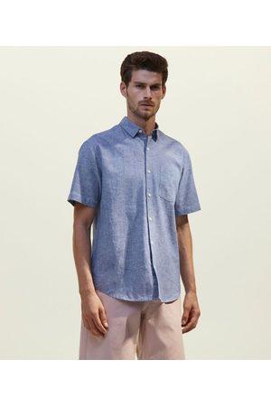 Marfinno Homem Camisa Formal - Camisa em Linho com Bolso       M