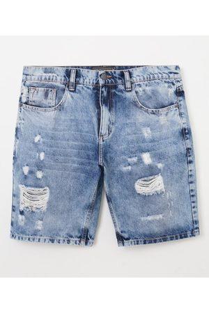 Blue Steel Bermuda Slim em Jeans com Puídos | | | 42