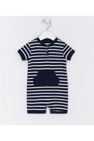Teddy Boom (0 a 18 meses) Criança Macacão - Macacão Infantil Listrado com Bolso Canguru - Tam 0 a 18 meses | | | 6-9M