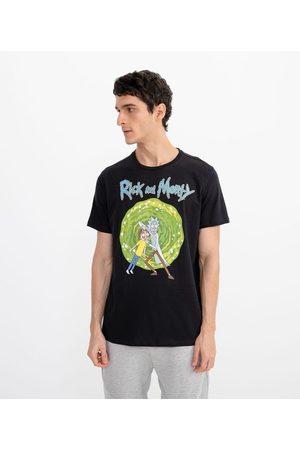 Blue Steel Camiseta com Estampa Rick e Morty | | | PP