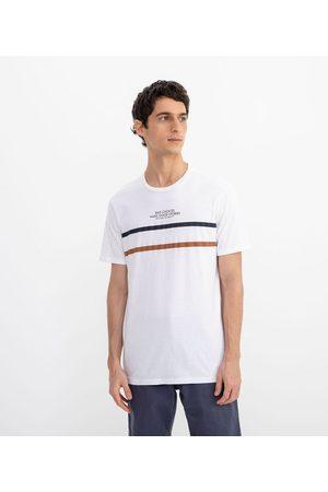 Blue Steel Camiseta Manga Curta com Listras Estampadas | | | GG