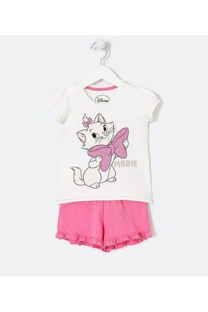 Disney Conjunto Infantil Blusa Estampa Marie e Short Liso - Tam 1 a 6 anos | | | 02