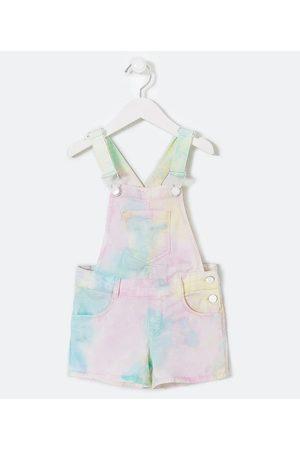 Fuzarka Jardineira Infantil Jeans Estampa Tie Dye - Tam 5 a 14 anos | | | 13-14