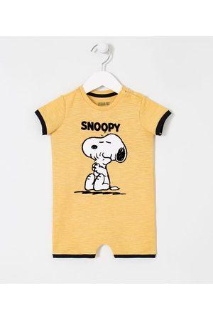 Teddy Boom (0 a 18 meses) Criança Macacão - Macacão Curto Infantil Estampa Snoopy - Tam 0 a 18 meses | | | 3-6M