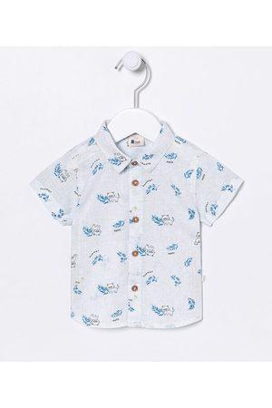 Teddy Boom (0 a 18 meses) Camisa Infantil Estampada com Botões de Madeira - Tam 0 a 18 meses | | | 3-6M