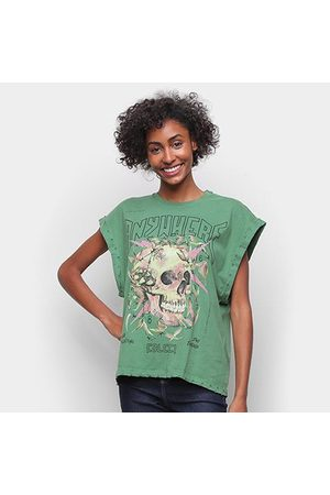 Colcci Camiseta Caveira Sleeveless Feminina
