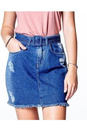 BESNI Saia Jeans Clochard Feminina