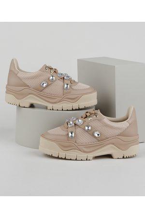 Zatz Tênis Feminino Sneaker Chunky com Strass