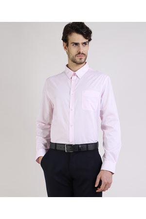 ANGELO LITRICO Camisa Social Masculina Comfort com Bolso Manga Longa