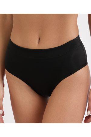 Dilady Mulher Cinto - Calcinha Feminina Zero Barriga Plus Size Cintura Alta Preta