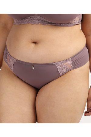 Dilady Calcinha Feminina Plus Size Biquíni em Microfibra Lilás