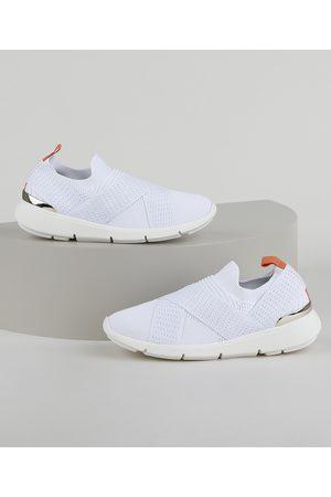 BEBECÊ Mulher Sapatos - Tênis Feminino Knit Esportivo com Elástico Cruzado