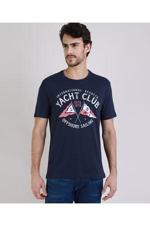 "ANGELO LITRICO Homem Manga Curta - Camiseta Masculina Yatch Club"" Manga Curta Gola Careca """