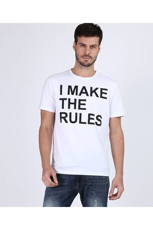 "Clockhouse Camiseta masculina Tal pai Tal Filho I Make The Rules"" Manga Curta Gola Careca Off White"""