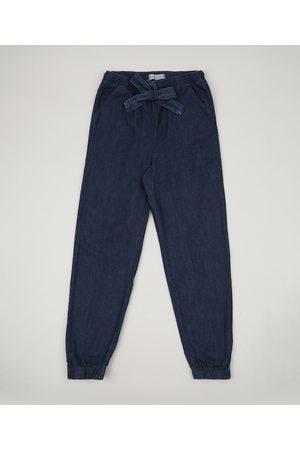 Fifteen Menina Calça Jogger - Calça Jeans Juvenil Jogger com Bolsos Médio