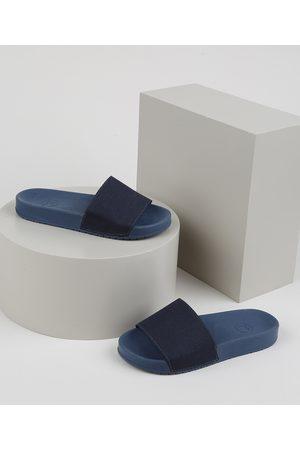 Molekinho Chinelo Slide Jeans Infantil Escuro