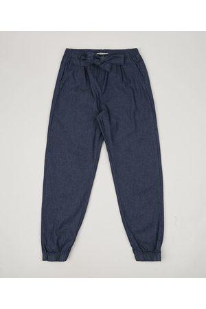 PALOMINO Menina Calça Jogger - Calça Jeans Infantil Jogger com Bolsos Médio