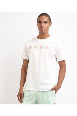 MTV Camiseta Masculina Manga Curta Gola Careca Branca