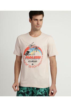 """Suncoast Camiseta Masculina Malibu"""" Manga Curta Gola Careca """""""