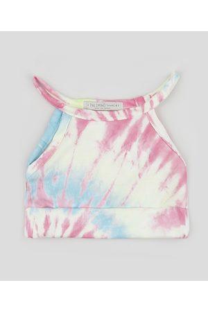 PALOMINO Regata Cropped Infantil Estampada Tie Dye Multicor