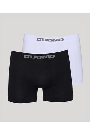 Duomo Kit de 2 Cuecas Masculinas D'uomo Boxer Multicor