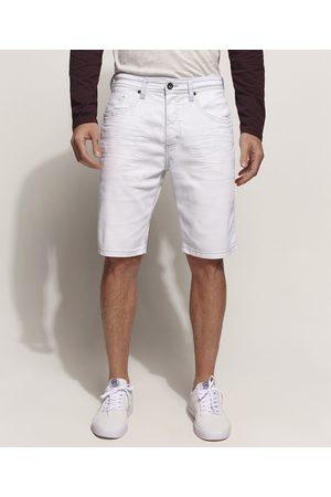 Clockhouse Homem Bermuda - Bermuda Jeans Masculina Slim com Bolsos Claro